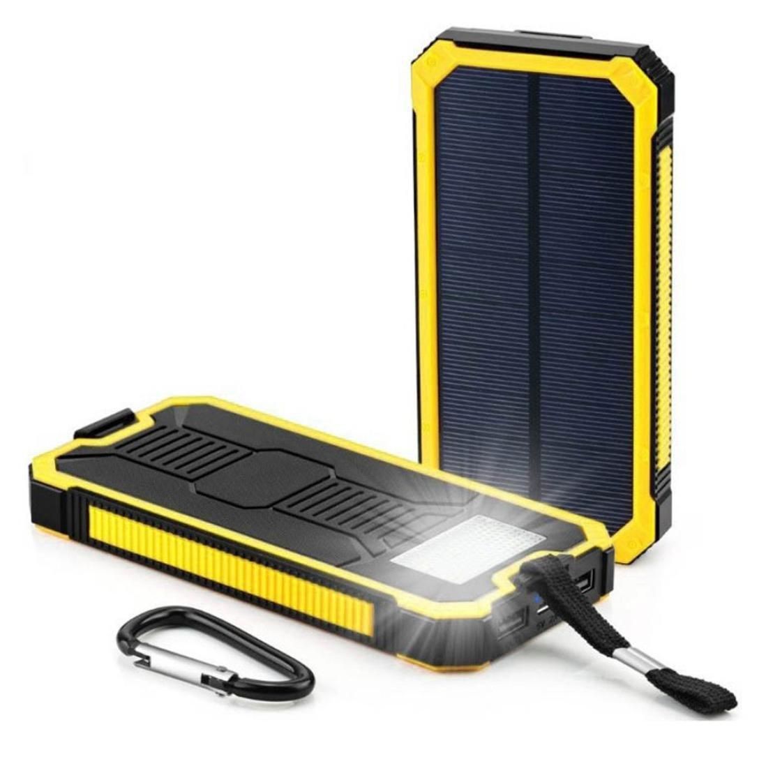 Mobile Power Pack Case, SinfuDIY Kits Box 12000mAh LED Dual USB Ports Solar Charger (D)