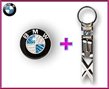 BMW escudo Badge Pegatina 45 mm azul de carbono + BMW X3 ...