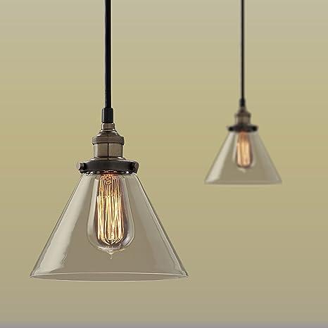 Edison Industrial hierro tulipa para lámpara Loft de cuerpo ...