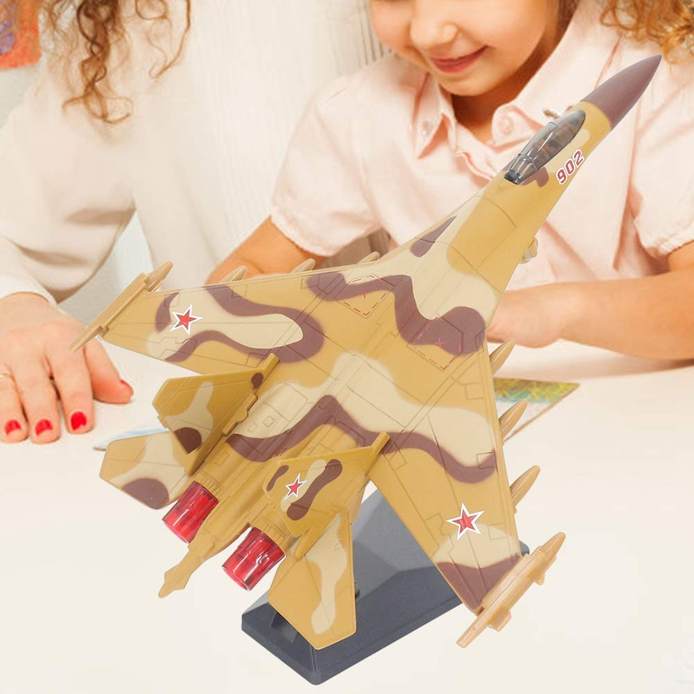 Idalinya Plane Model Toys Air Airplane Child Kid High Simulation Pull Back Plane Toy Model Airplane Toys Gift for Kids Blue