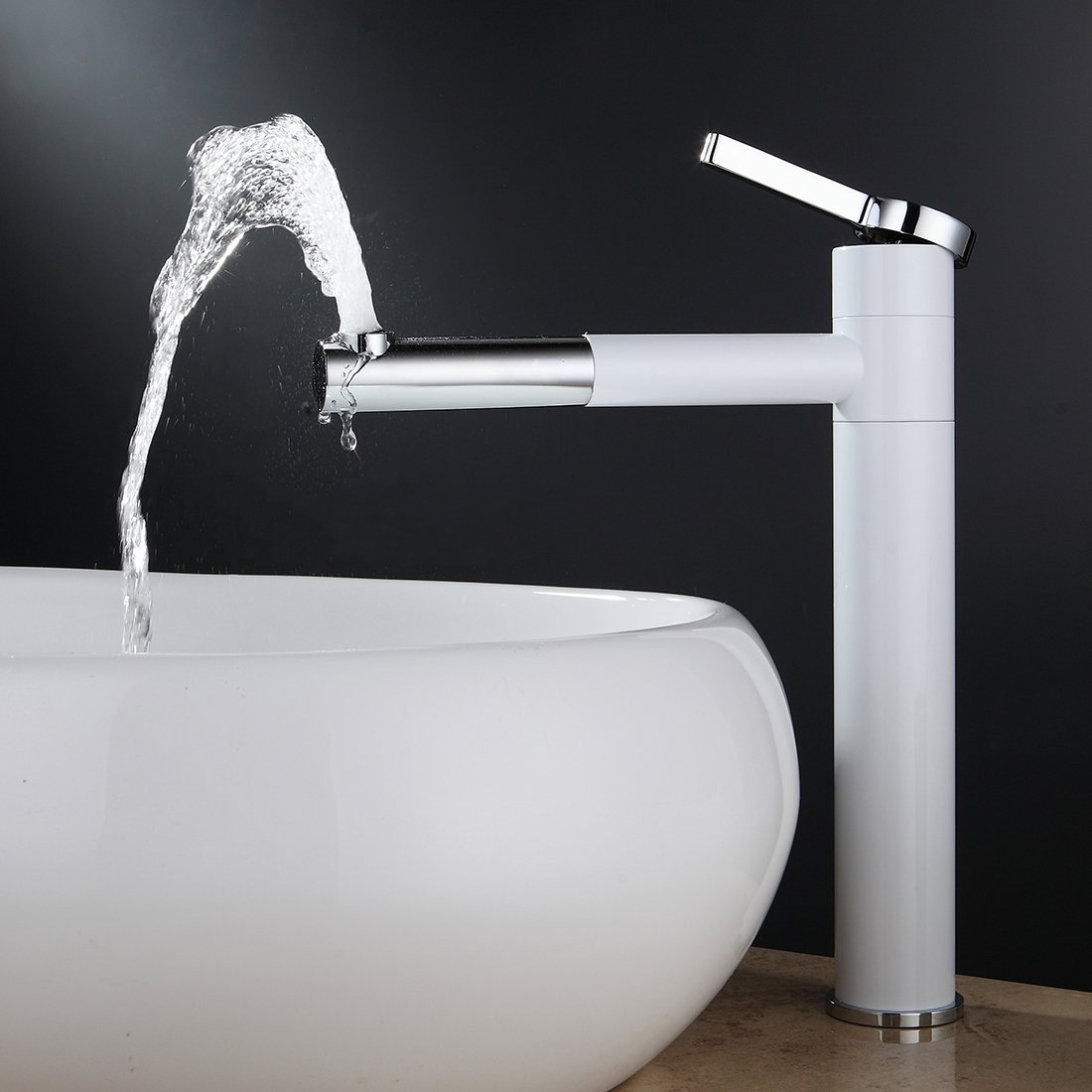 Fapully Contemporary Bathroom Sink Faucet with Rotating Spout 11.8 ...