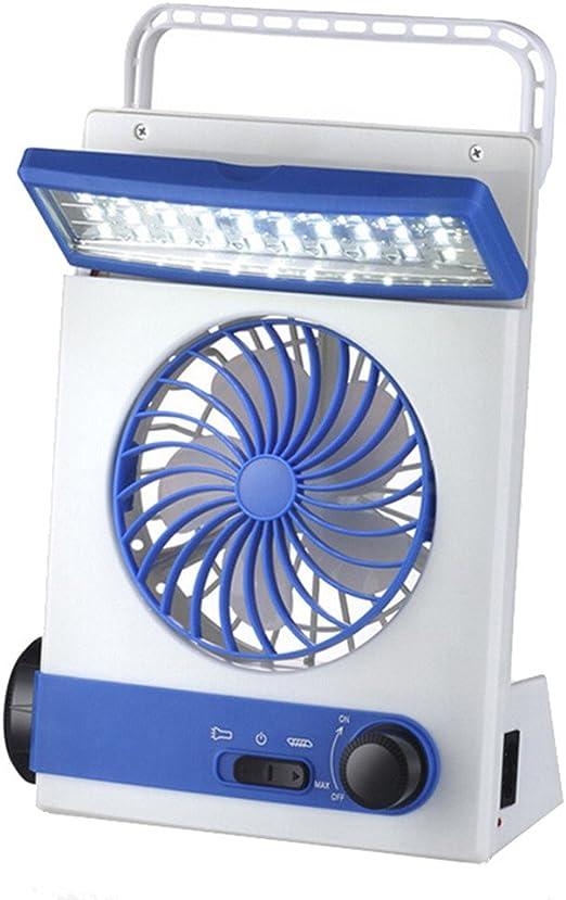 JiaMeng Mini Ventilador Clip Ventilador Batería Ventilador Solar Recargable multifunción LED lámpara de Mesa ...