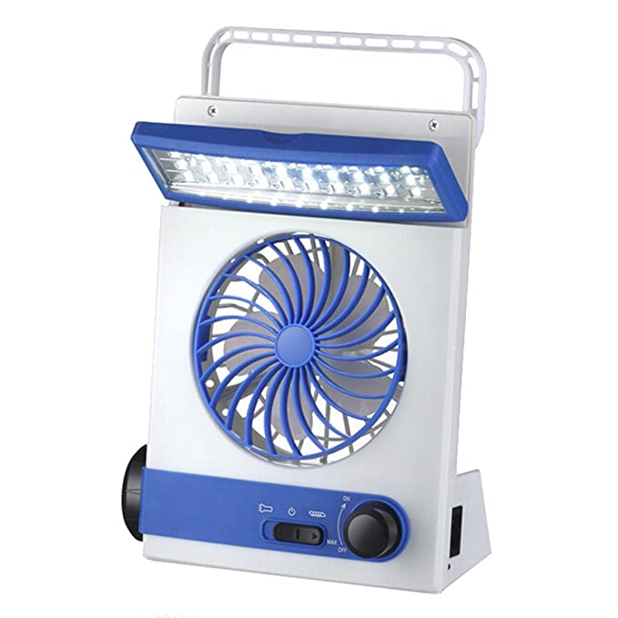 JiaMeng Mini Ventilador Clip Ventilador Batería Ventilador ...