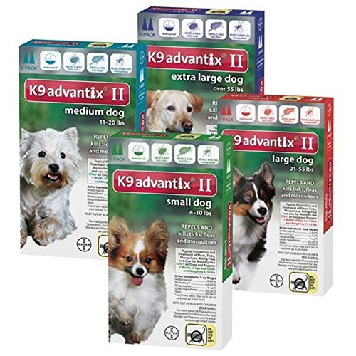Bayer K9 Advantix II, Flea And Tick Control Treatment for Dogs, 21 to 55 Pound, 2-Month Supply by Bayer Animal Health