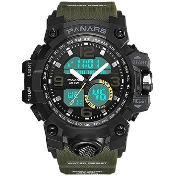 Yxx max Reloj Impermeable Reloj Deportivo Deportivo al Aire Libre Running Reloj Deportivo Digital para Hombre Luminoso Reloj Multifuncional Impermeable ...