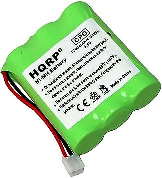 HQRP Batería para General Electric GE 25841, 25860, 25865, 25866, 25880, 25881 Teléfono inalámbrico + HQRP Posavasos: Amazon.es: Electrónica