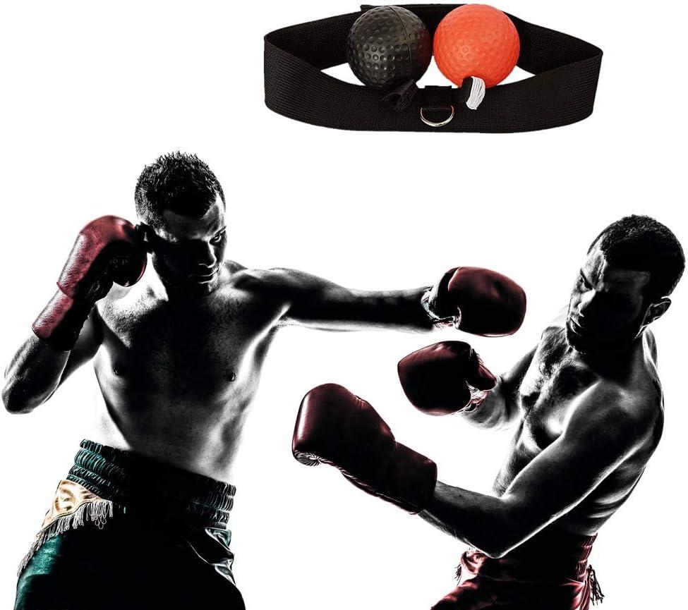 Manda Stell Fight Ball Reflex Boxer Entra/înement Boxer Vitesse Punch Head Cap String