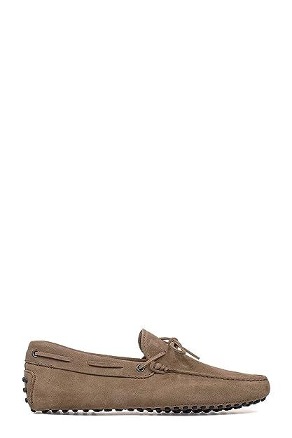 Men's MCBI293137O Brown Suede Loafers