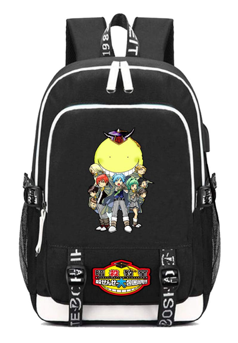 Assassination Classroom  7 Cosstars Assassination Classroom Anime Rucksack Schoolbag Laptop Backpack with USB Charging Port and Headphone Jack  9