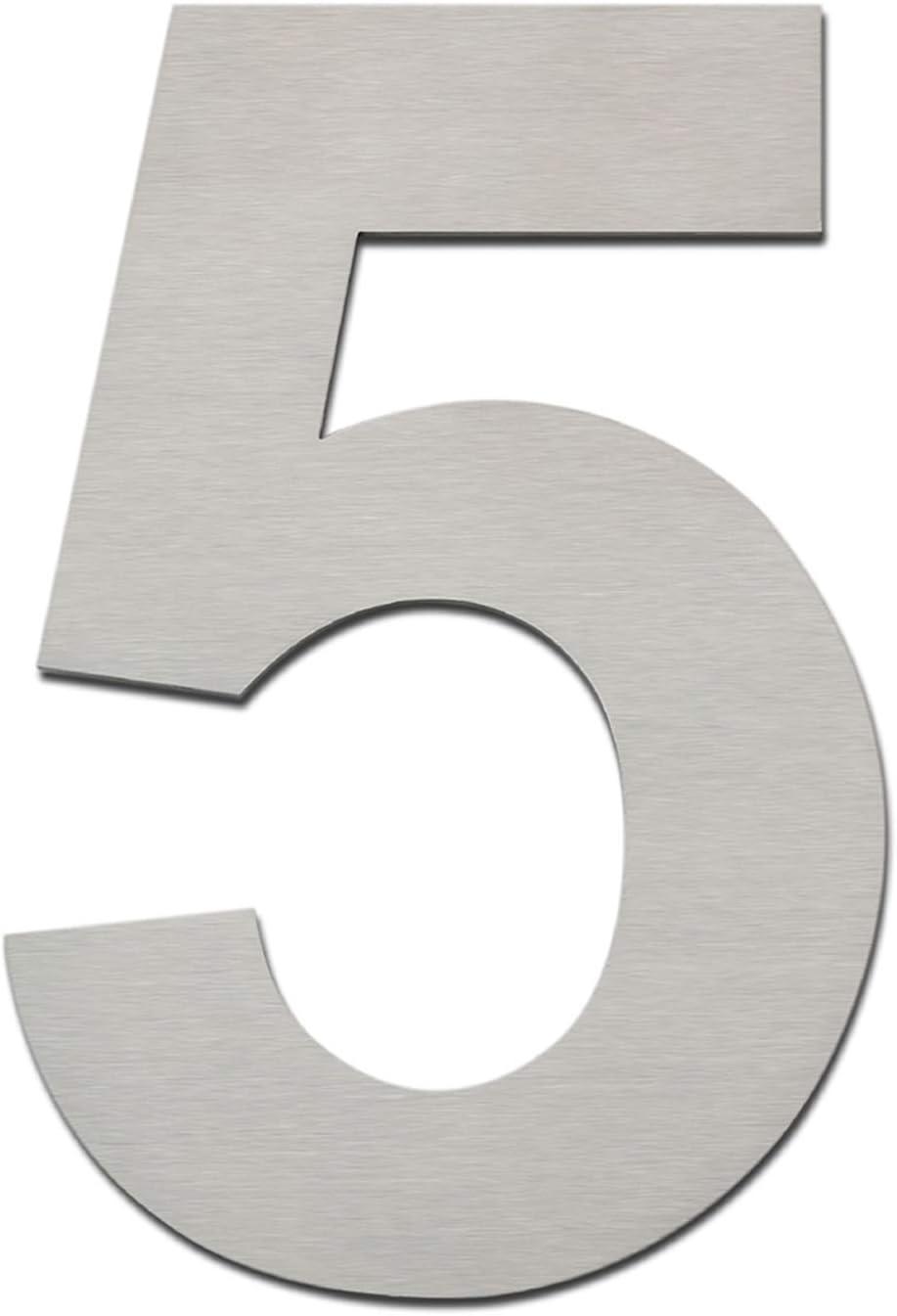 0, 10cm Edelstahl Hausnummer zum Anschrauben Schwebender Optik Hausnummer Hausnummer