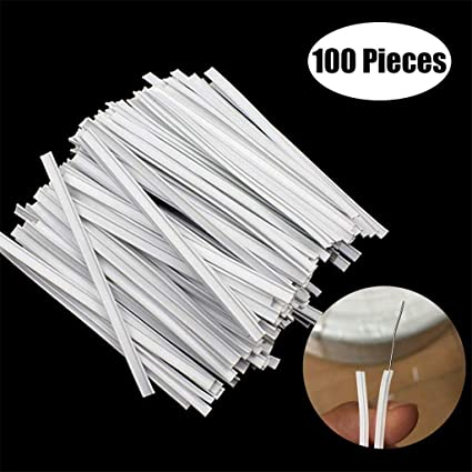 Pandahall 100pcs 8.5cm//3.34 Aluminum Nose Wire Metal Strips Nose Bridge Strip with Adhesive Back for DIY Mask Handmade Crafts Sewing Supplies