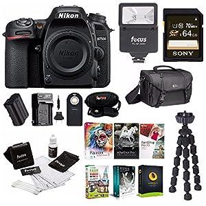 Nikon D7500 DSLR Camera Body with Nikon Bag + 64GB Card + Battery & Charger+ Kit