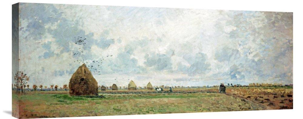 Global Galerie Budget gcs-265349–76,2–360,7 cm Camille Pissarro Herbst Galerie Wrap Giclée-Kunstdruck auf Leinwand Art Wand B01K1PU2U6 | Verrückte Preis