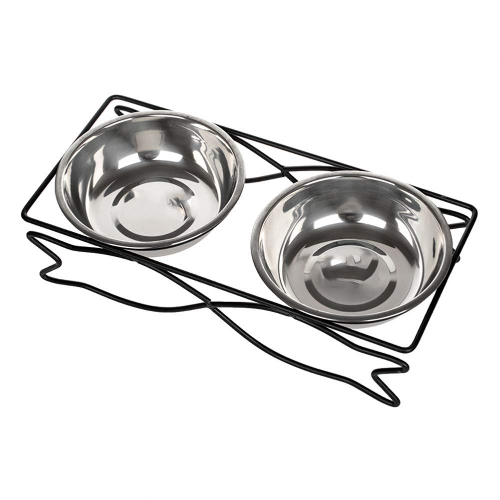 A Forever-You Cat Bowl Double Bowl Fixed pet Ceramic high Rice Bowl Eating Basin cat Table, a