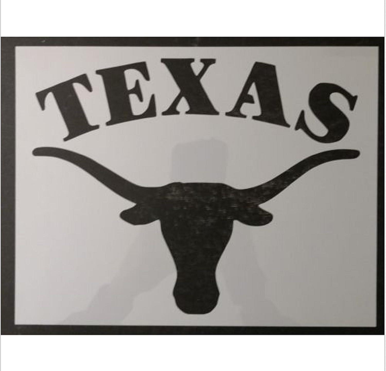 """Bull Steer Skull 11/"""" x 8.5/"""" Custom Stencil FAST FREE SHIPPING"""