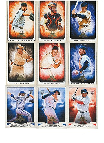 2015 Diamond Kings Series MLB Baseball Complete Mint 200 Card Set Loaded with Stars, Rookies and Hall of Famers Including Babe Ruth, Roberto Clemente, Mike Trout Plus Complete M (Mint)
