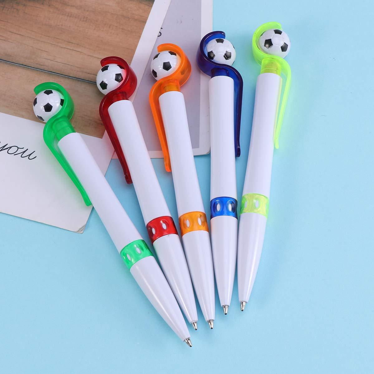 Random Color Toyvian Soccer Shape Ball-Point Pen Creative Ballpoint Pens Student Stationery School Office Supplies 5 Pieces