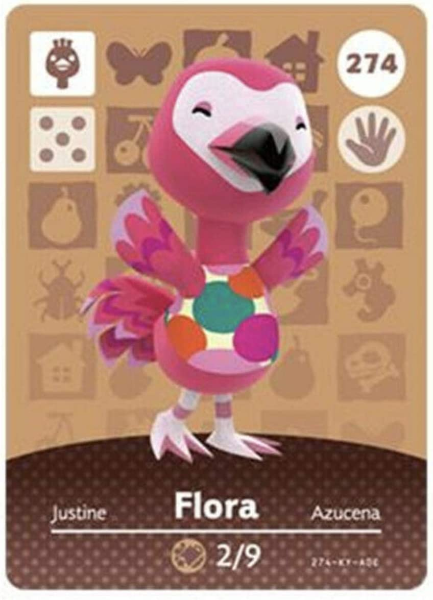 No.274 Flora Animal Crossing Villager Cards Series 3. Third Party NFC Card. Water Resistant