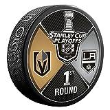 #10: 2018 NHL Vegas Golden Knights vs Los Angeles Kings 1st Round Souvenir Dueling Hockey Puck