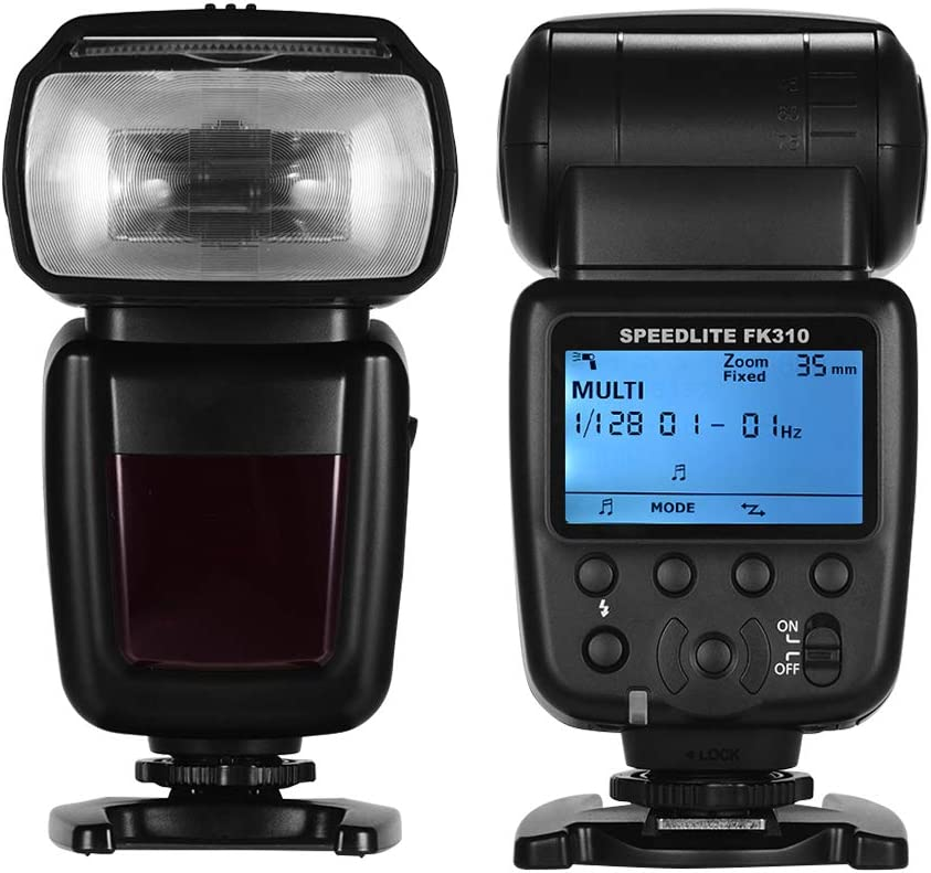 WQYRLJ Universal Wireless Camera Flash Light Speedlite GN33 LCD Display for Canon//Nikon//Sony DSLR Cameras Photography Accessories