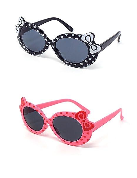 UltraByEasyPeasyStore 1 x Schwarz 1 x Rosa farbige Kinder Girls ...