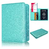 #7: Anvas Passport Holder Travel Wallet - Premium Vegan Leather RFID Blocking Bling Case Cover - Securely Holds Passport, Business Cards, Credit Cards, Boarding Passes,Arctic