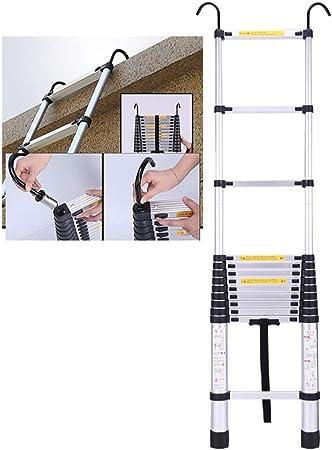 Escaleras Telescópicas Multifunción Escalera telescópica plegable de aluminio con gancho, Escalera de extensión portátil multipropósito, para ingeniería DIY Loft interior al aire libre, capacidad de 3: Amazon.es: Hogar