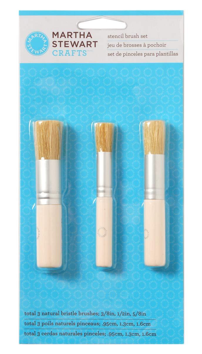 Martha Stewart Crafts 32802 Stencil Brushes (Set Of 3) Plaid Enterprises Inc. MS32802