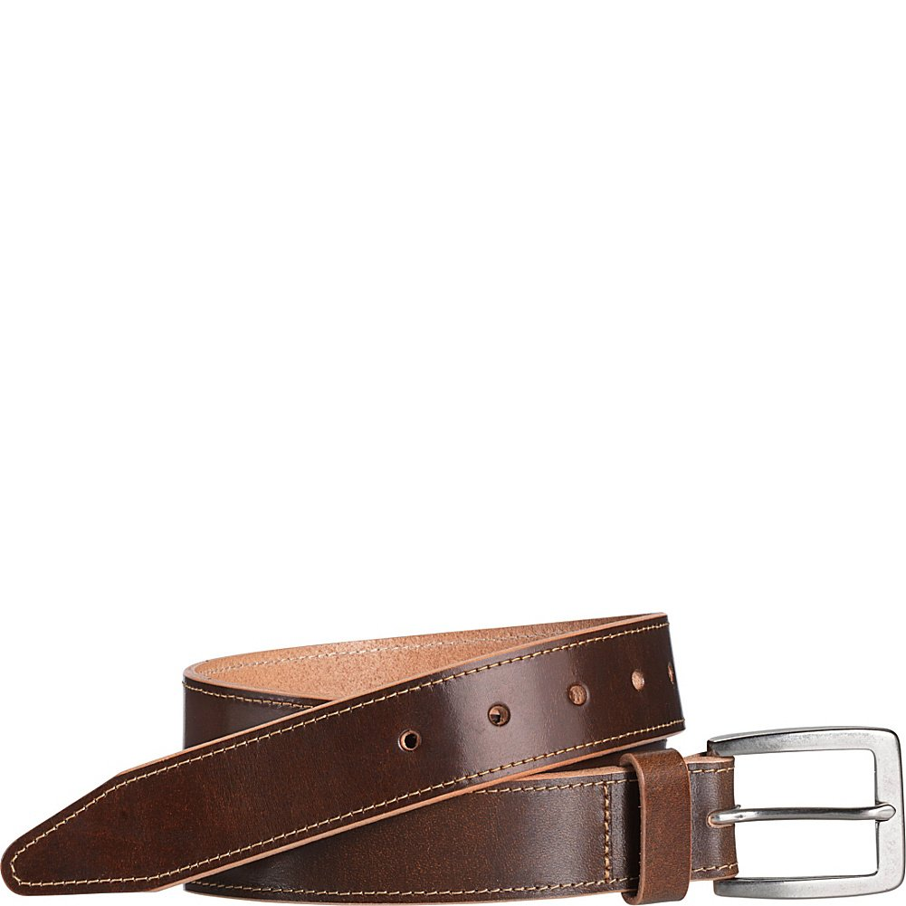 Johnston /& Murphy Raw Edge Single Stich Belt 44 - Brown