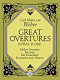 Great Overtures in Full Score, Carl Maria von Weber, 0486252256
