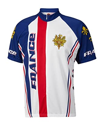 Amazon.com  World Jerseys France Men s Cycling Jersey  Clothing 8164f8381