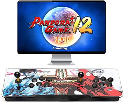 Amazon Com 3400 Games Installed Pandora Games 12 Arcade Game Console Pandoras Box 12 Support 3d Games 1280x720 Full Hd 4 Players Online Game Hdmi Vga Usb To Connect Toys Games