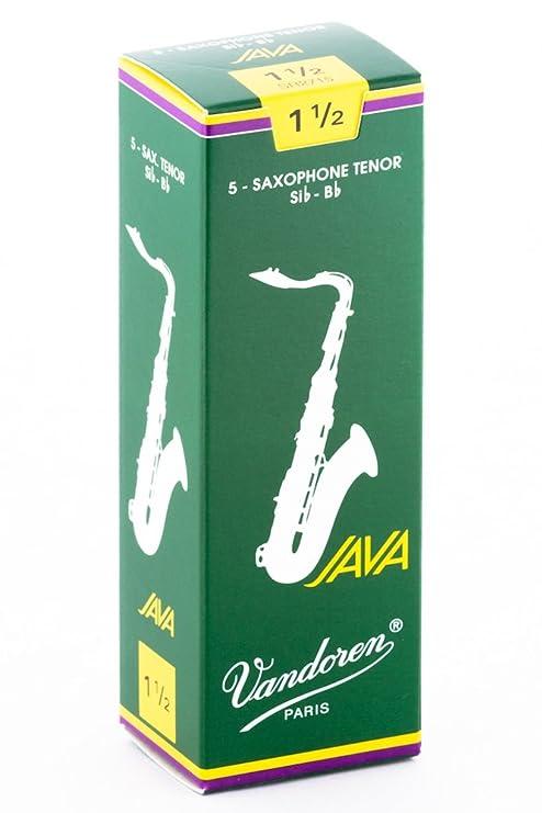 Vandoren SR2715 - Caja de 5 cañas para saxofón tenor: Amazon.es: Instrumentos musicales