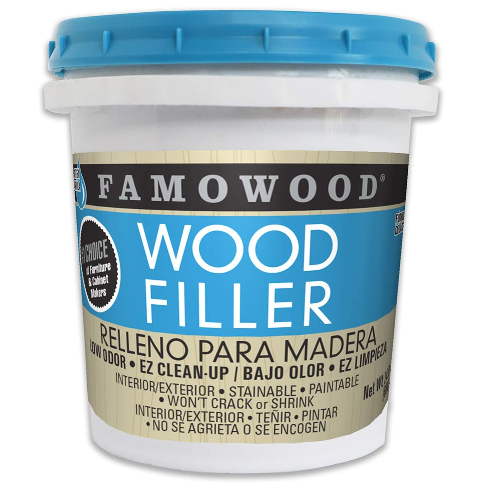 FamoWood 40022142 Latex Wood Filler - Pint, Walnut