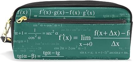 imobaby Math and Physical Fórmulas Estuche portátil de piel sintética para lapiceros de escuela, estuche para niños, bolsa de cosméticos impermeable, estuche de maquillaje: Amazon.es: Oficina y papelería