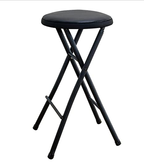 Incredible Black Folding Stool Chair 24 Lightweight Home Office Stool For Kids Cushioned Seat Metal Frame Portable Convenience Quick Seat Anywhere Uwap Interior Chair Design Uwaporg