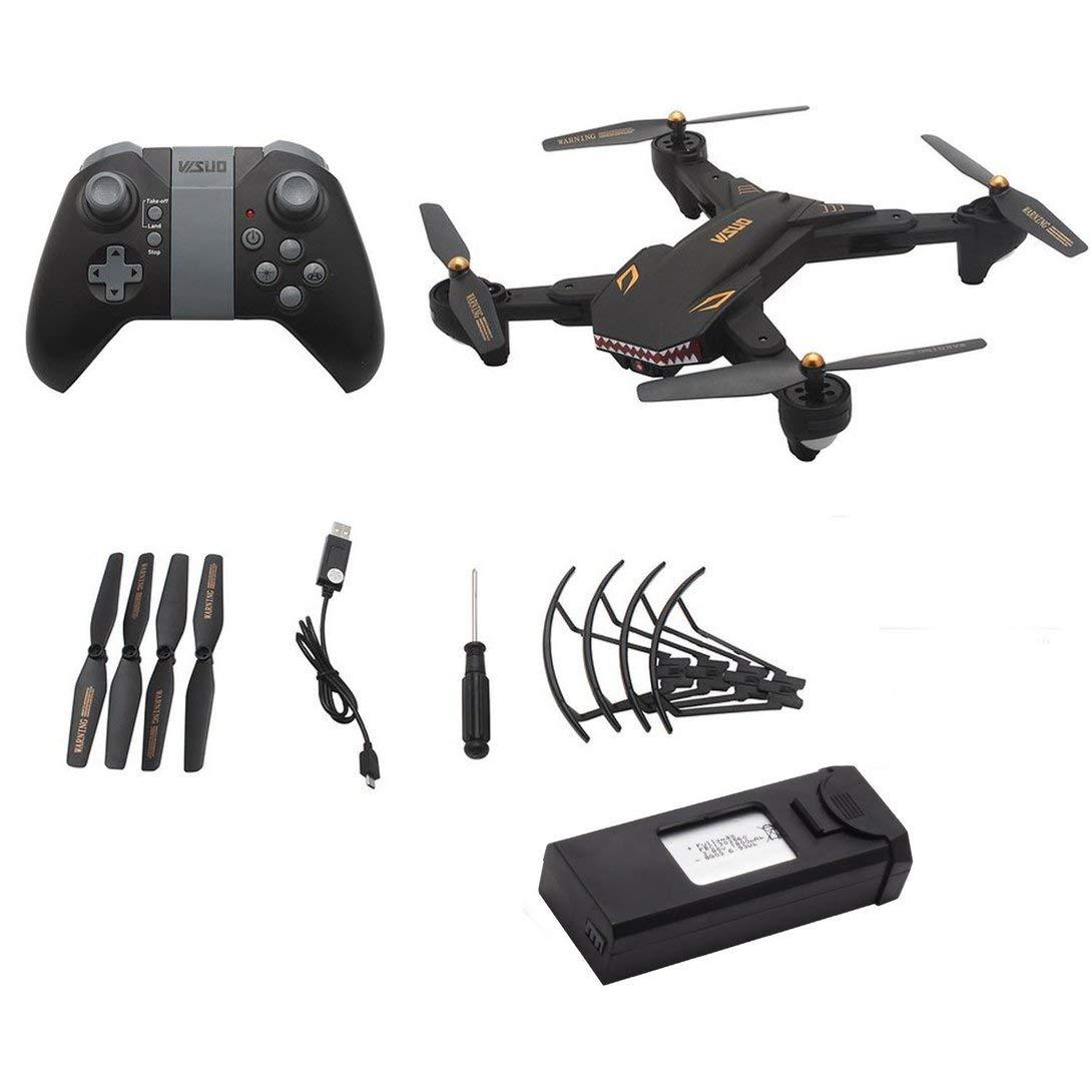 Swiftswan Per XS809S 2.4G RC Drone con Fotocamera 0.3MP 4CH Pieghevole Mini Quadrocopter modalità Senza Testa Altitude Hold WiFi FPV Drone Nero