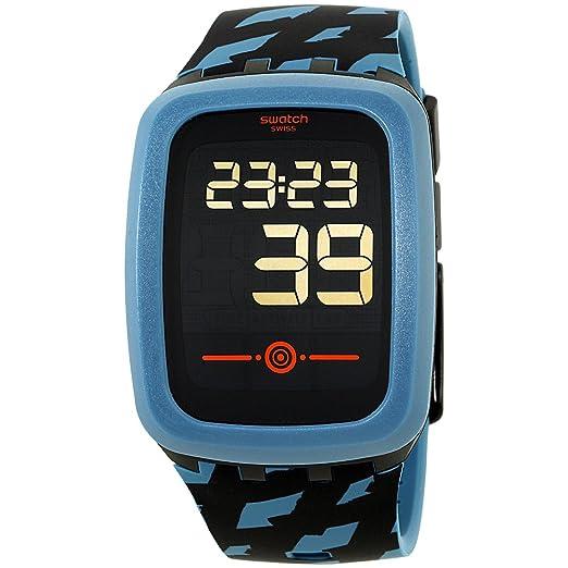 Swatch Touch petrozero2 negro Dial silicona correa Unisex Reloj svqb100: Amazon.es: Relojes