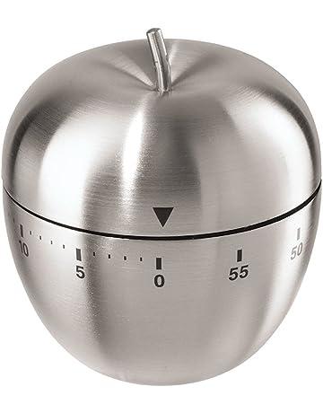 Beito Apple - Temporizador de cocina (60 minutos, acero inoxidable)