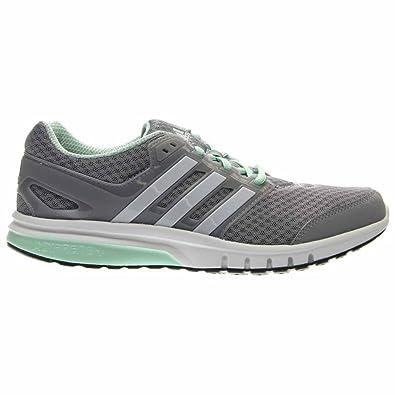 adidas Performance Women\u0027s Galaxy Elite w Running Shoe, Mid  Grey/White/Frozen Green