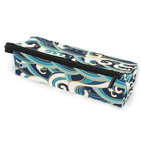 Estuche para gafas, diseño tradicional de olas del océano ...