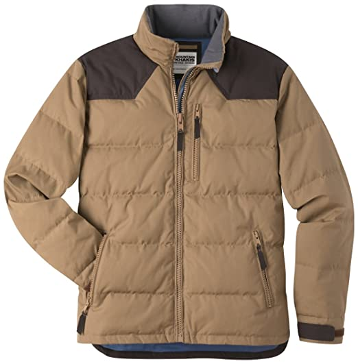 93e99ec587 Mountain Khakis Men's Outlaw Down Jacket, Tobacco, Small