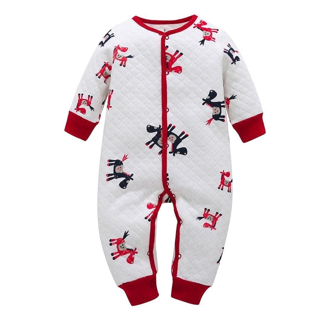 Sisit Combi-short à manches longues de avec imprimé cheval pour bébé garçon fille. douces et douillettes pour cet hiver