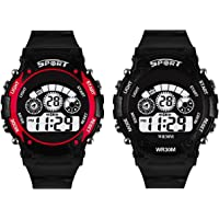 Swadesi Stuff Digital Multi Color Dial Kids Watch for Boys and Girls - Combo of 2 Watches