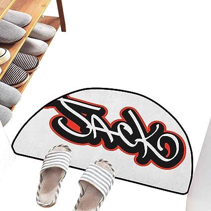 Amazon.com: Axbkl - Felpudo fina, diseño de pétalos de ...