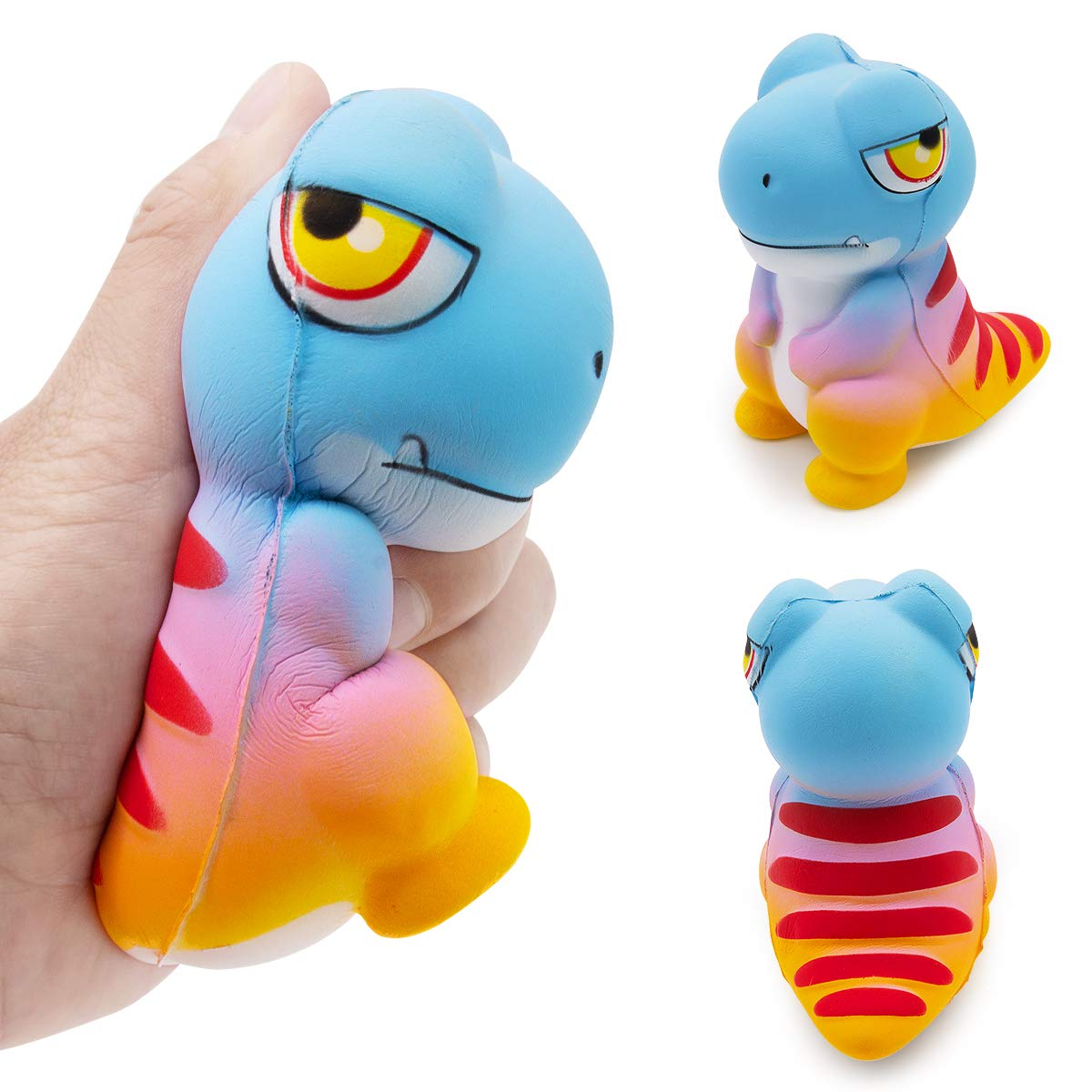 SPECOOL Antiestres Squishy Kawaii Dinosaurio Squishy Juguete Slow Rising Squeeze Perfumada Suave Antiestrés Regalo para Niños Adultos