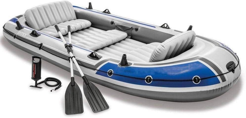 耐久性のある救命ボート釣りボートドリフターシリーズボートグループ5人インフレータブルボートゴムボート 簡単なインフレ/デフレ (色 : 青, サイズ : 366x168x43cm) 青 366x168x43cm