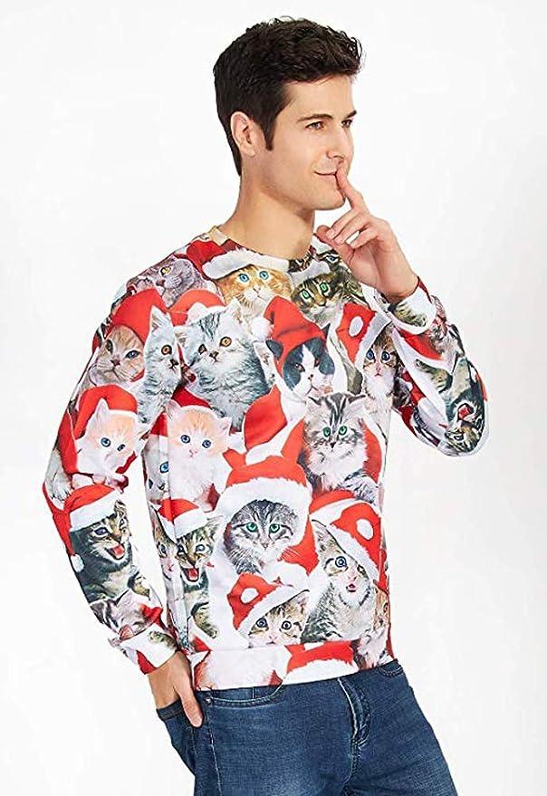 KENANCY Men Ugly Christmas Sweater 3D Print Human Body Funny Sweater Hoodie