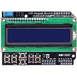 HiLetgo 1602 LCD キーパッド シールド ボード ブルー バックライトを付き Arduinoに対応 Duemilanoveロボット [並行輸入品]