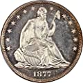 1877 P Liberty Seated Half Dollars (Proof) Half Dollar PR66 PCGS+\CAC CAM